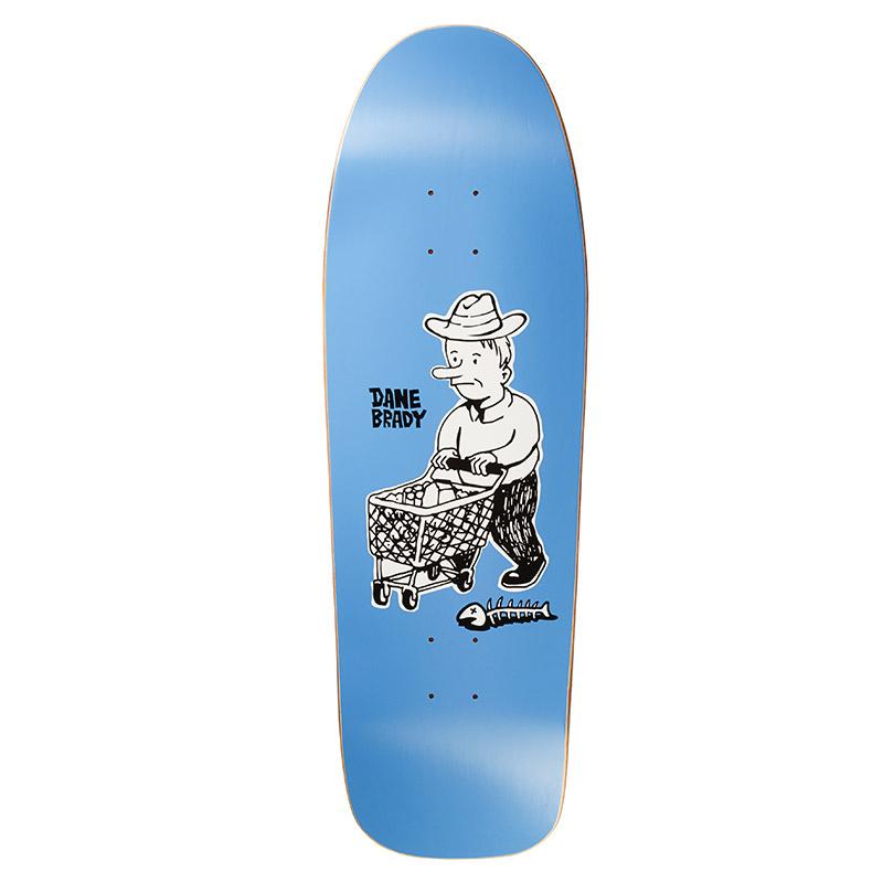 Polar Dane Brady Shopping Spree Dane 1 Shape Skateboard Deck Blue 9.75
