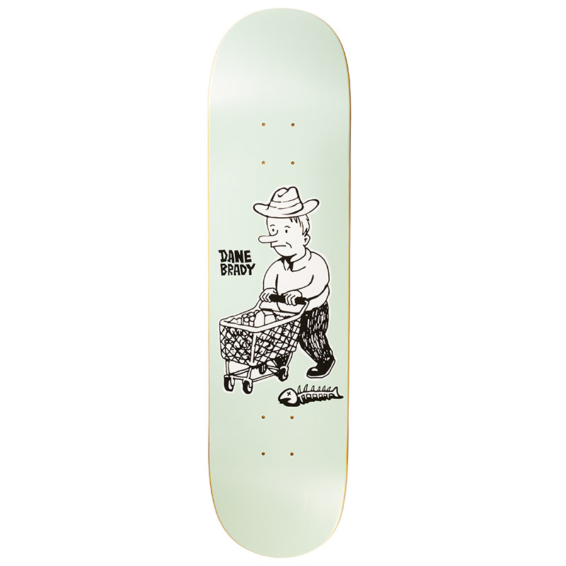 Polar Dane Brady Shopping Spree Skateboard Deck Grey Green 8.0