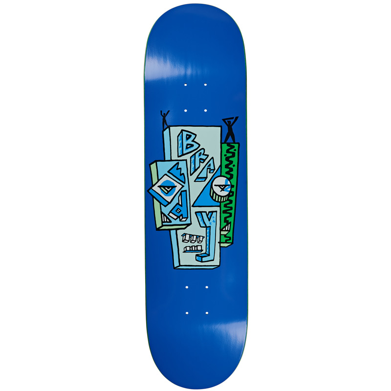 Polar Dane Brady Skyscaper Skateboard Deck Blue 8.0
