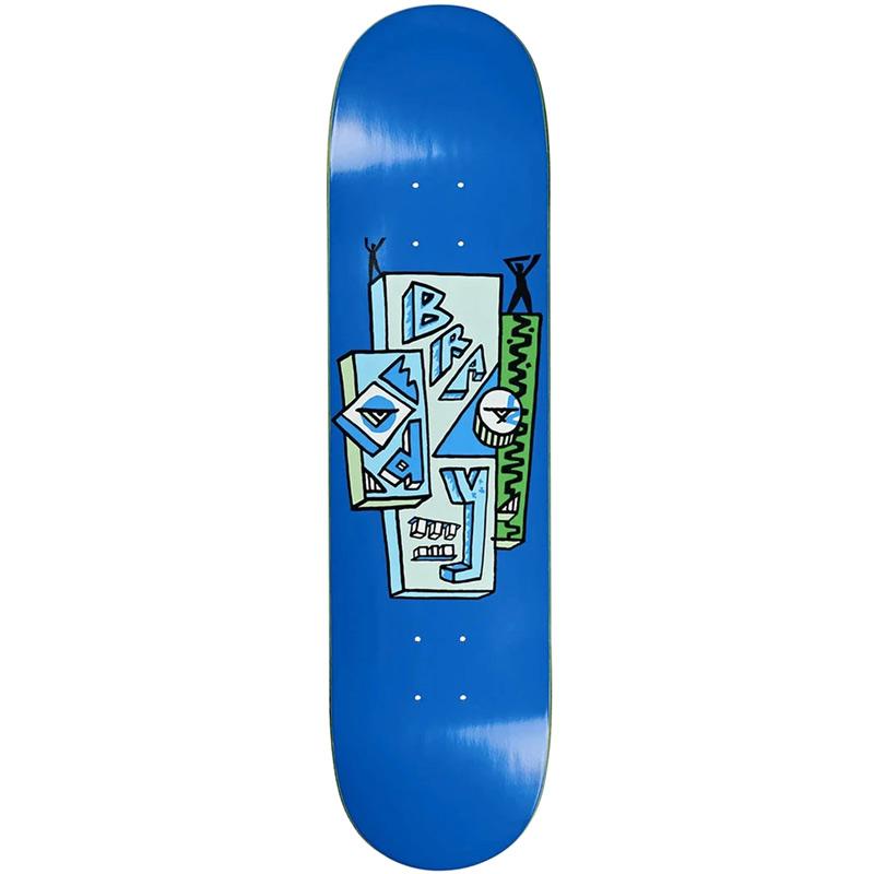 Polar Dane Brady Skyscaper Skateboard Deck Blue 8.5