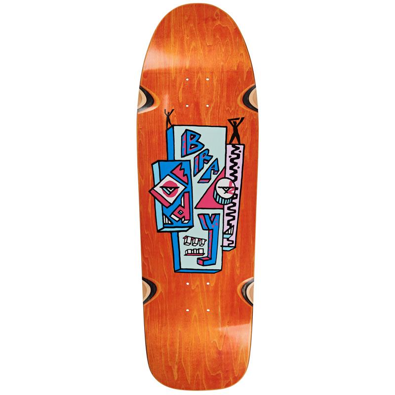 Polar Dane Brady Skyscaper Wheel Wells Dane 1 Shape Skateboard Deck Orange Veneer 9.75