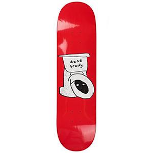 Polar Dane Brady Toilet Red Skateboard Deck Assorted Colours 8.38