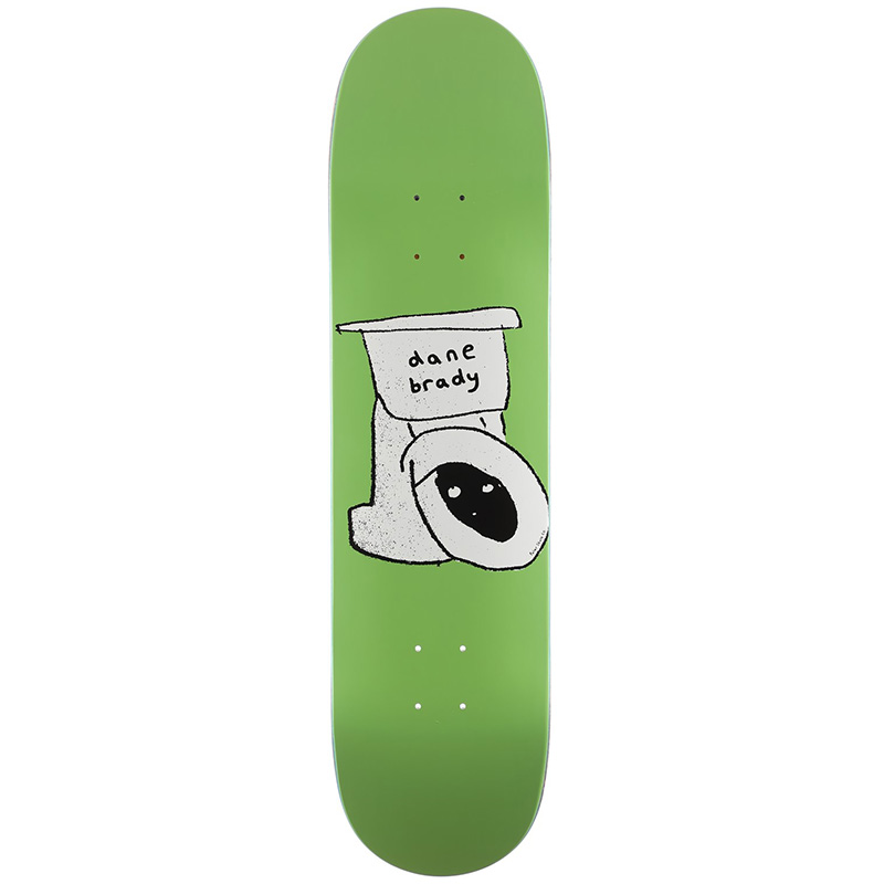 Polar Dane Brady Toilet Skateboard Deck 8.0