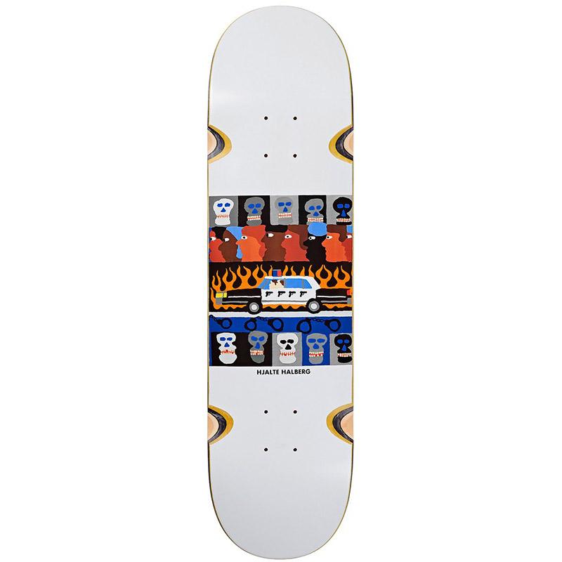 Polar Hjalte Halberg Abuse Of Power Wheel Well Skateboard Deck White 8.5