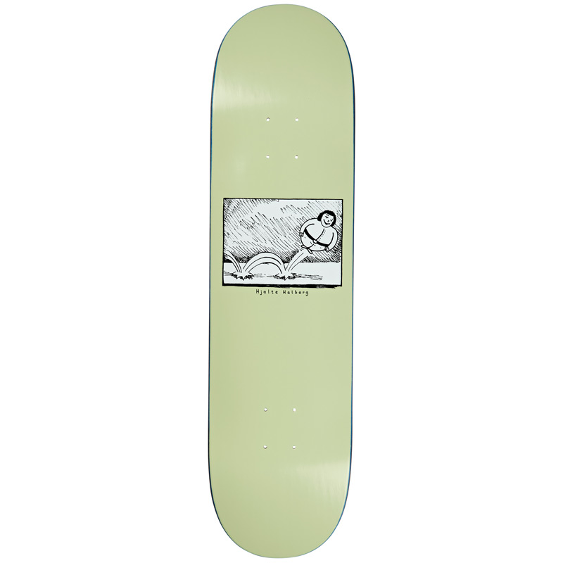 Polar Hjalte Halberg Bounce Skateboard Deck Light Green 8.375
