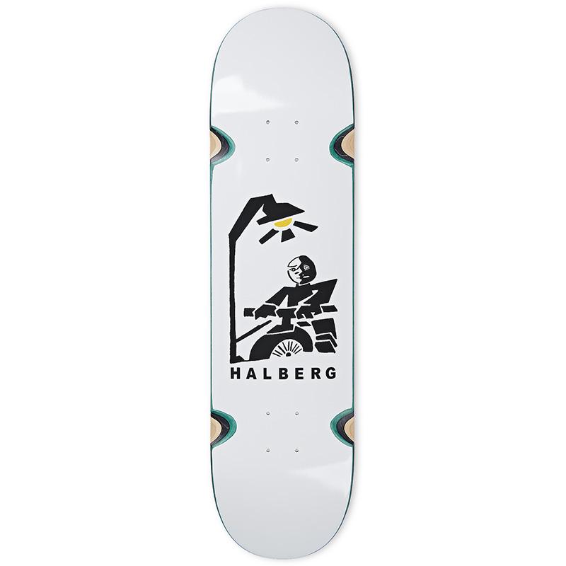 Polar Hjalte Halberg Insomnia Wheel Well Skateboard Deck White 8.25