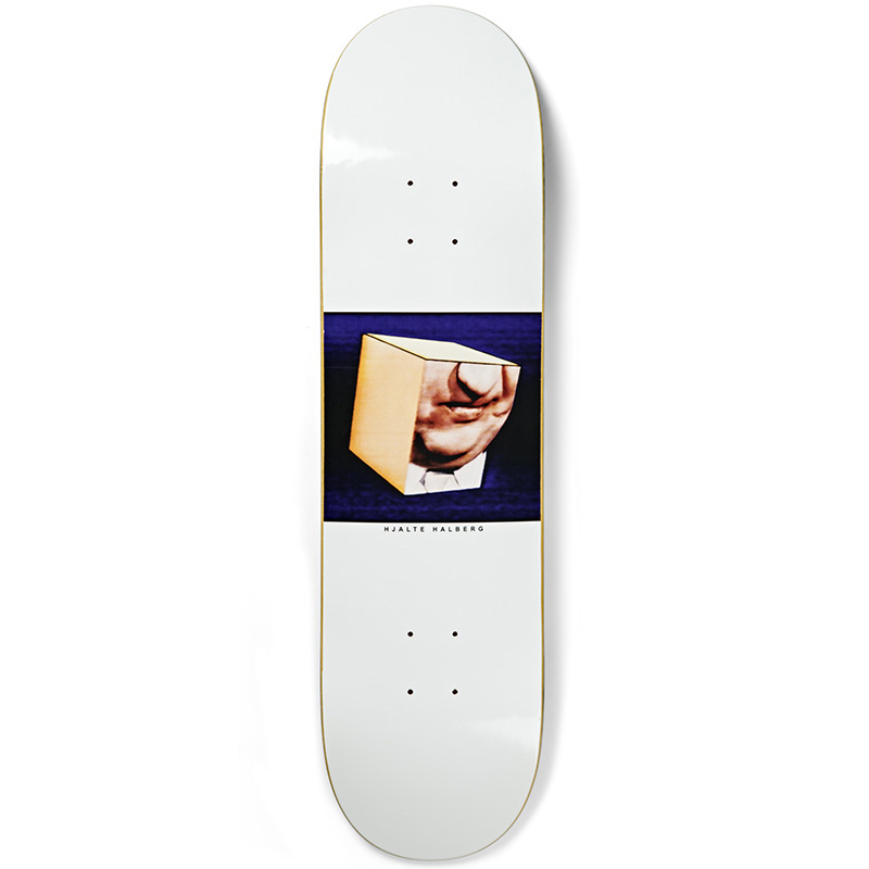 Polar Hjalte Halberg Isolation Skateboard Deck White 8.0