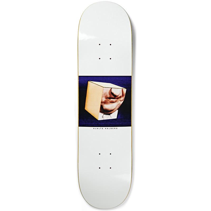 Polar Hjalte Halberg Isolation Skateboard Deck White 8.25