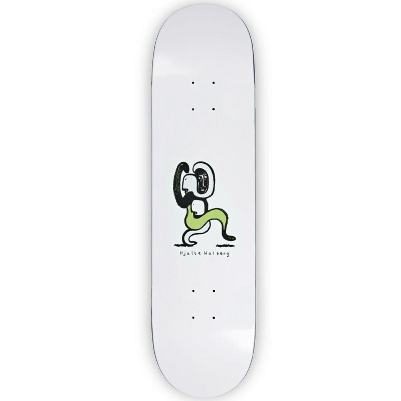 Polar Hjalte Halberg Lurking Skateboard Deck White 7.875