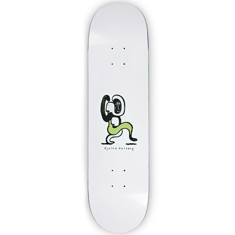 Polar Hjalte Halberg Lurking Skateboard Deck White 8.5