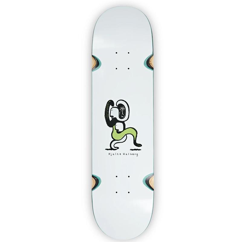 Polar Hjalte Halberg Lurking Wheel Well Skateboard Deck White 9.0