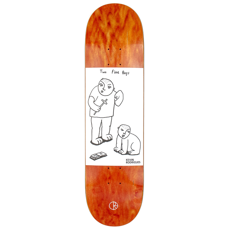 Polar Kevin Rodrigues Two Fine Boys Natural Skateboard Deck 8,25