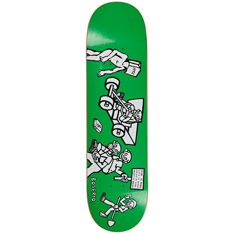 Polar Nick Boserio Cash Is Queen Skateboard Deck Green 8.375