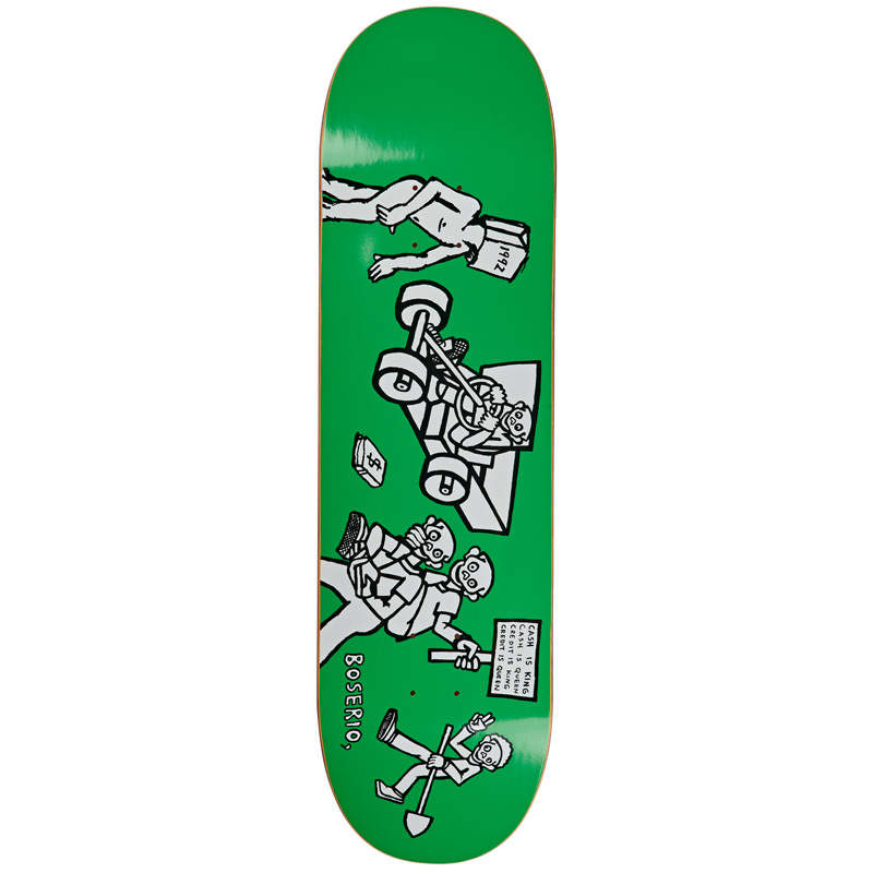 Polar Nick Boserio Cash Is Queen Skateboard Deck Green 8.75