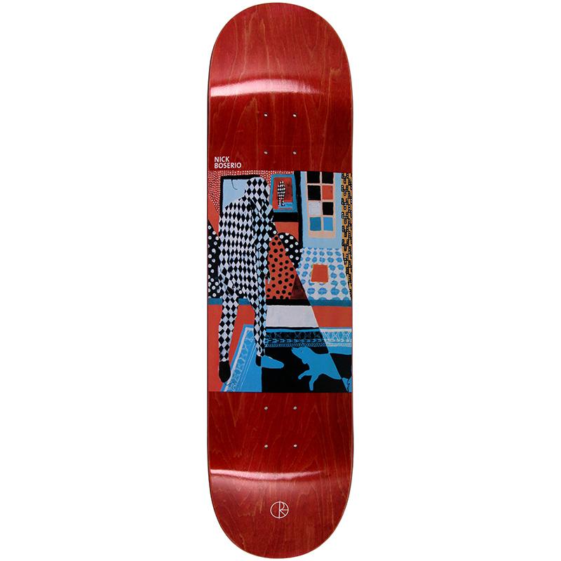 Polar Nick Boserio Man With Dog Skateboard Deck 8.25