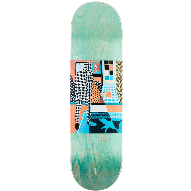 Polar Nick Boserio Man With Dog Skateboard Deck 9.0