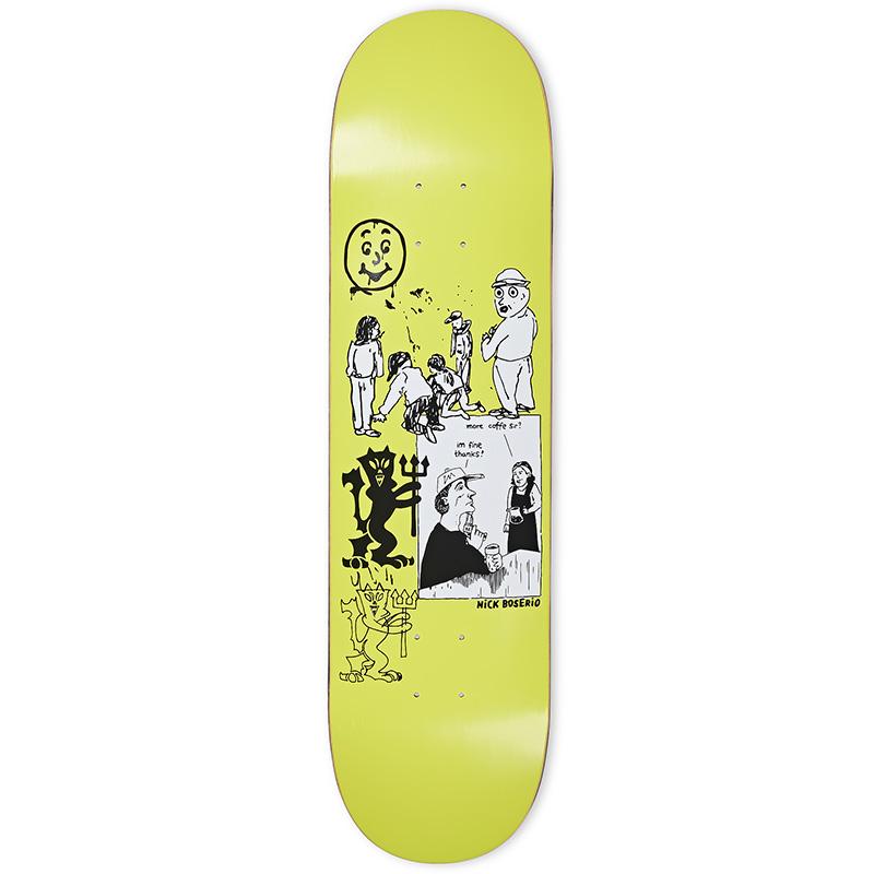 Polar Nick Bosserio Year 2020 Skateboard Deck Moss Green 8.25