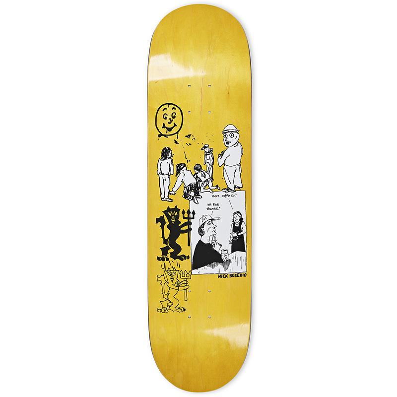 Polar Nick Bosserio Year 2020 Skateboard Deck Yellow 8.5