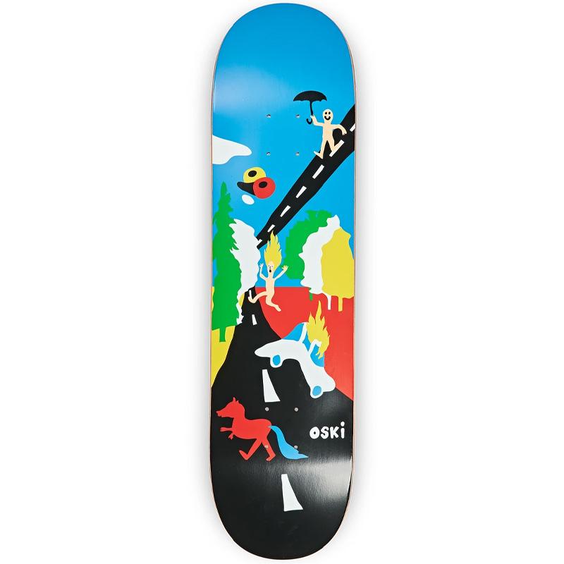 Polar Oskar Rozenberg Beautiful Day Skateboard Deck Blue/Black 8.5