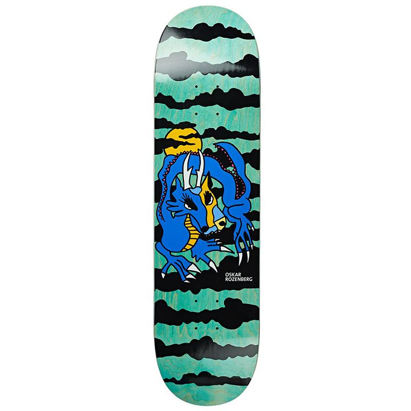 Polar Oskar Rozenberg Dragon Sunset Blue Skateboard Deck 7.875