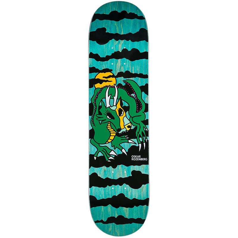 Polar Oskar Rozenberg Dragon Sunset Green Skateboard Deck 8.0