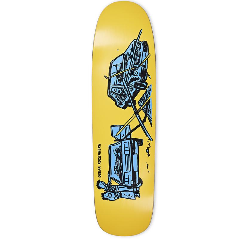 Polar Oskar Rozenberg Drivers License P9 Shape Skateboard Deck Yellow 8.75