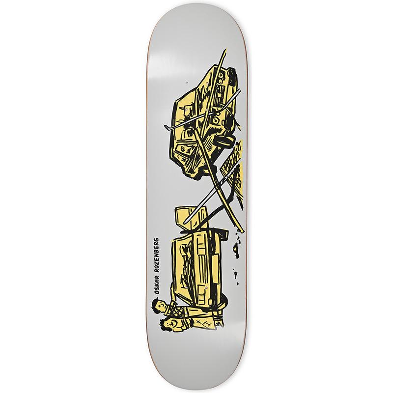 Polar Oskar Rozenberg Drivers License Skateboard Deck Grey 7.875