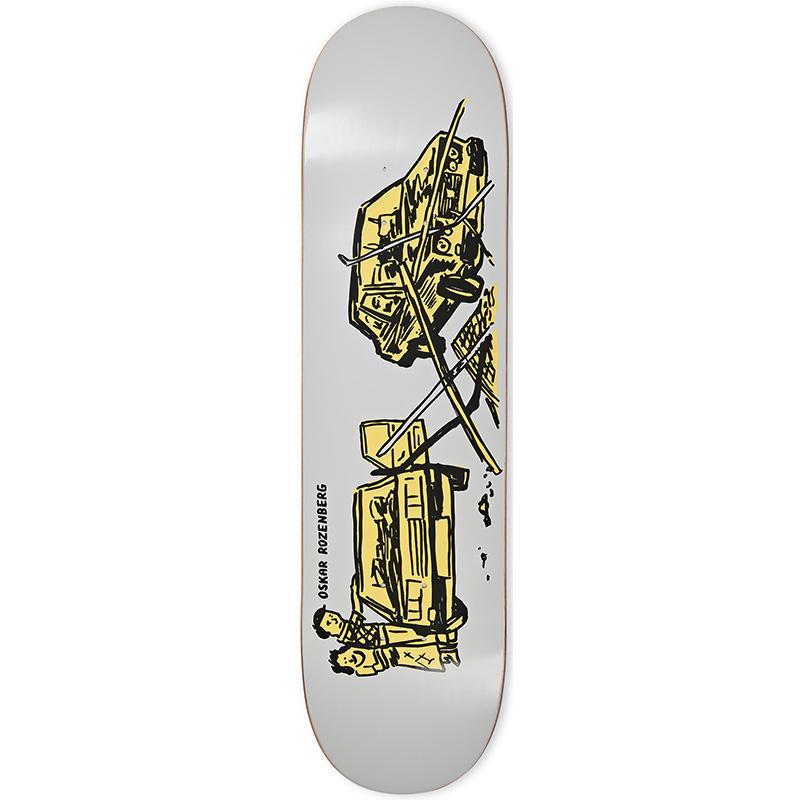 Polar Oskar Rozenberg Drivers License Skateboard Deck Grey 8.25