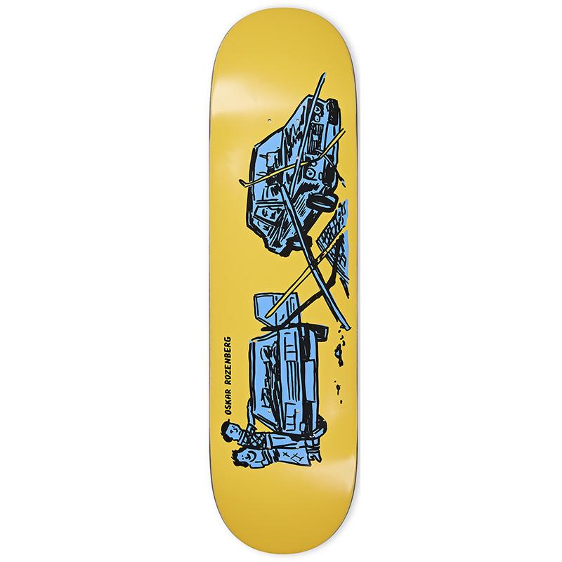 Polar Oskar Rozenberg Drivers License Skateboard Deck Yellow 8.375