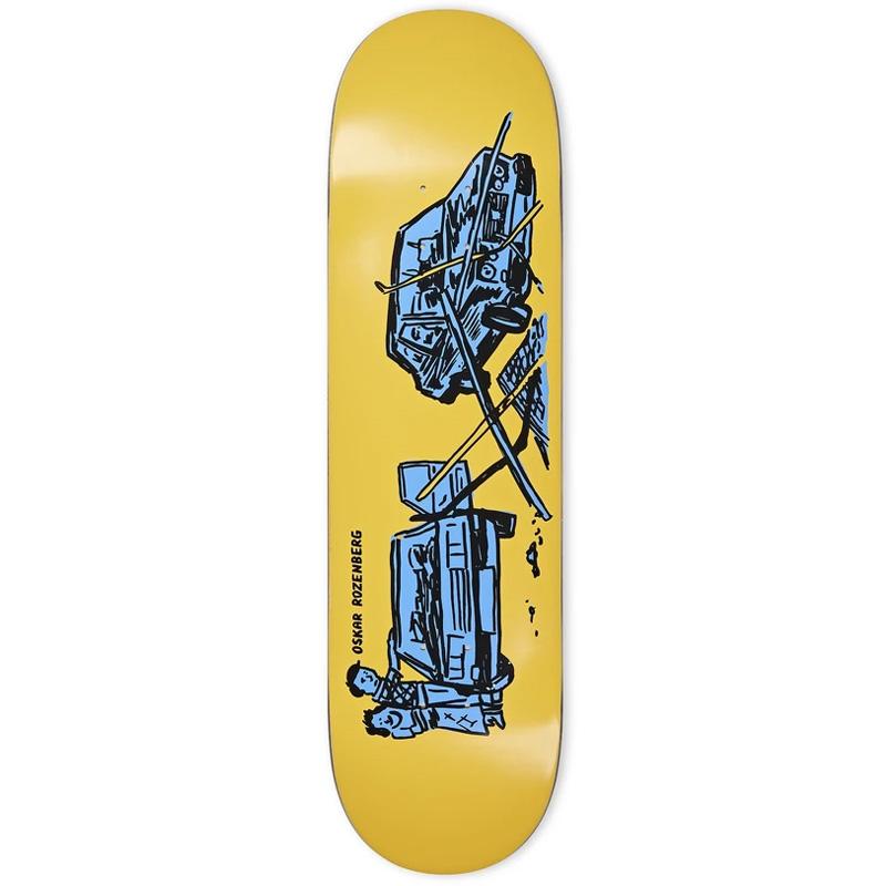 Polar Oskar Rozenberg Drivers License Skateboard Deck Yellow 8.625