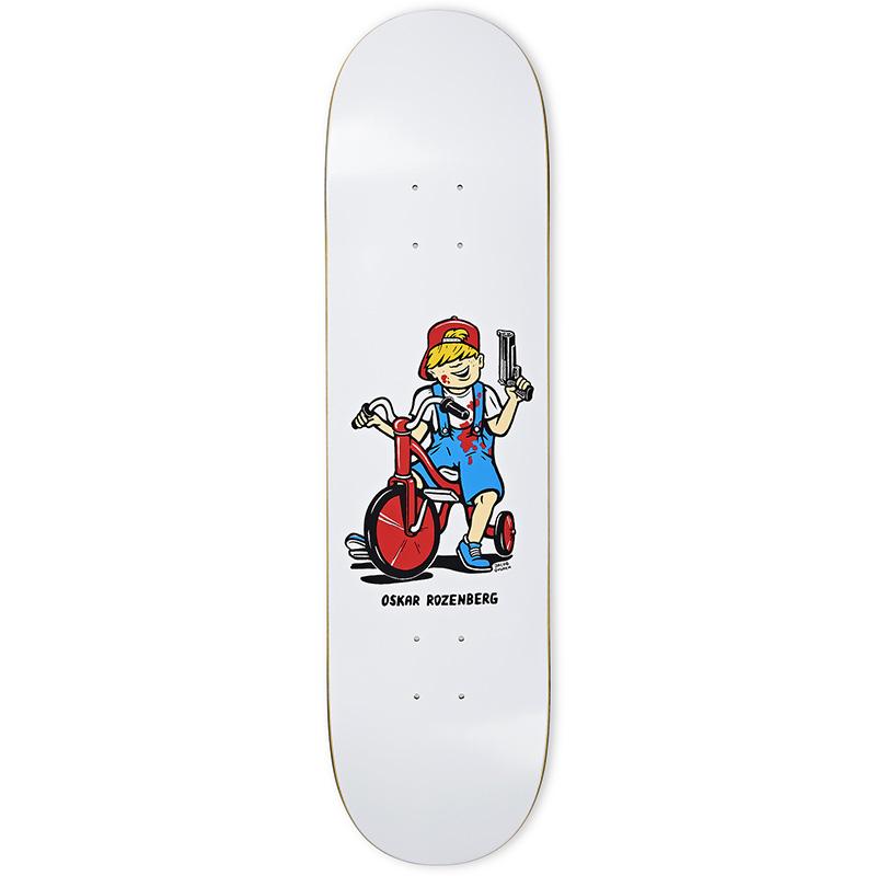 Polar Oskar Rozenberg Tricycle Skateboard Deck White 8.25