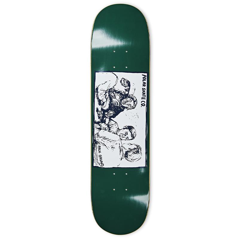 Polar Paul Grund Cold Streak Skateboard Deck Dark Green 8.0