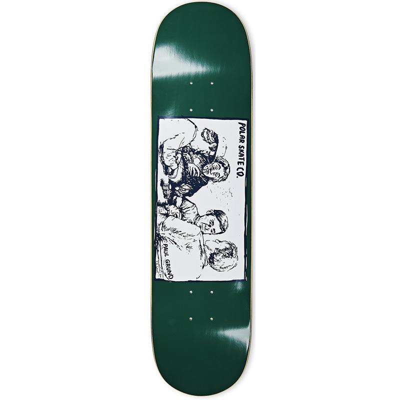 Polar Paul Grund Cold Streak Skateboard Deck Dark Green 8.375