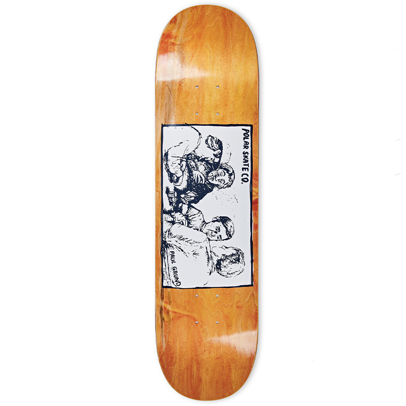Polar Paul Grund Cold Streak Skateboard Deck Orange 8.25