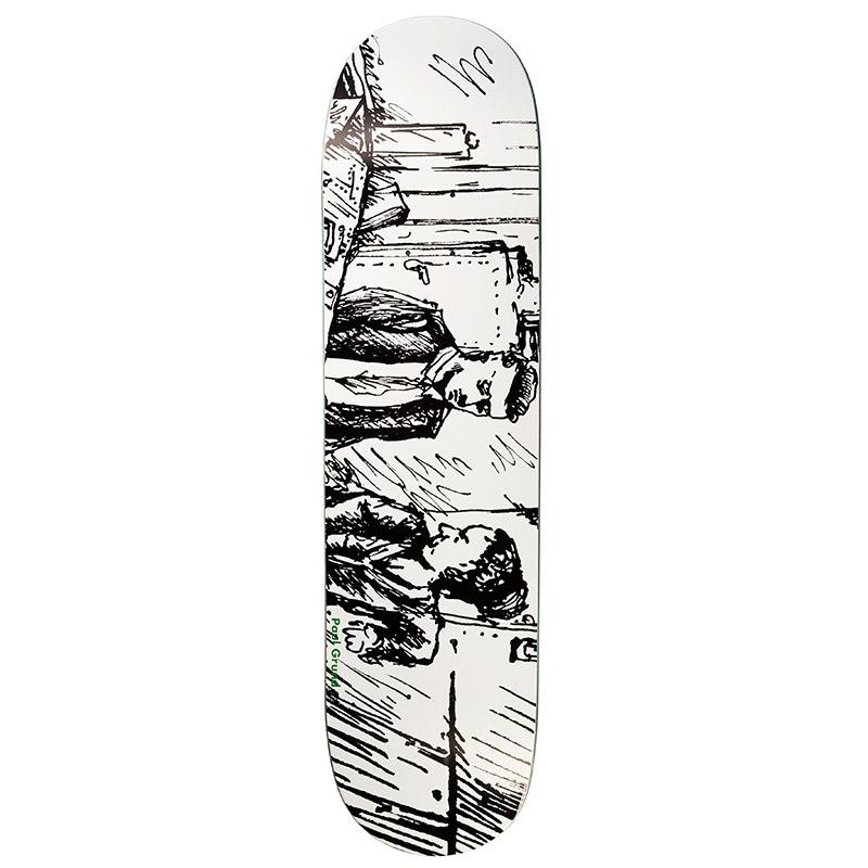 Polar Paul Grund Le Medusa Skateboard Deck Black&White 8.0
