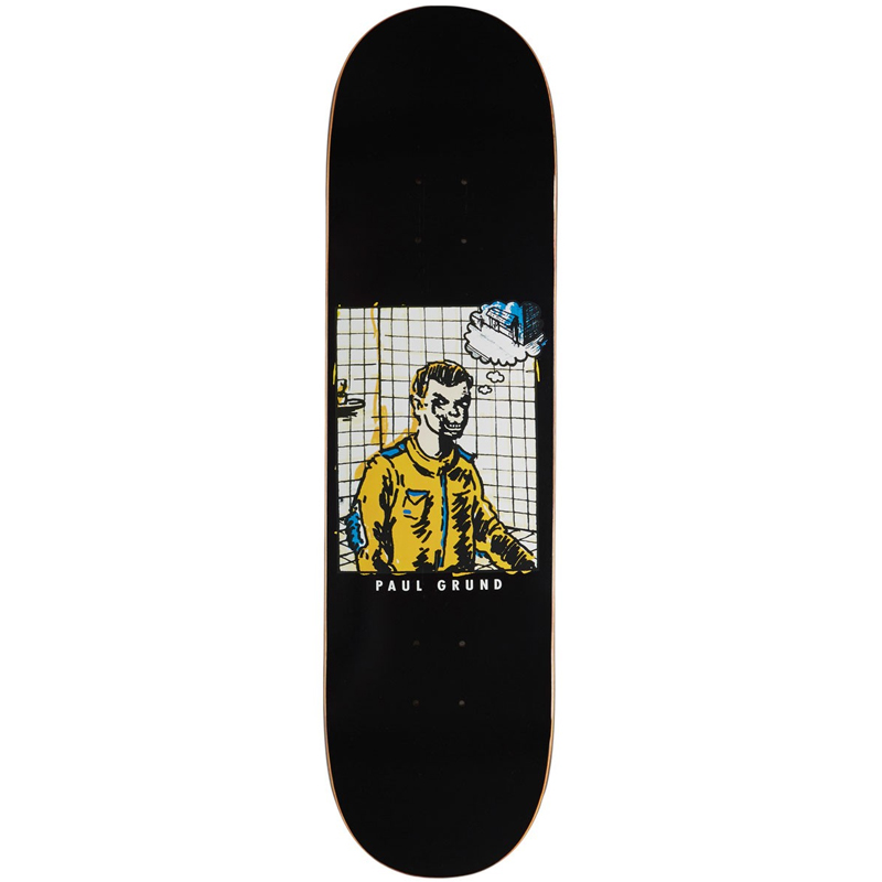 Polar Paul Grund Medusa Desires Black Slick Skateboard Deck 8.25