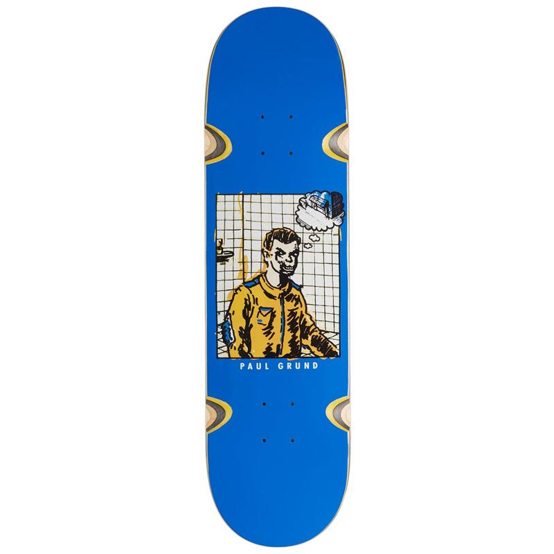 Polar Paul Grund Medusa Desires Blue Wheel Wells Skateboard Deck 8.38