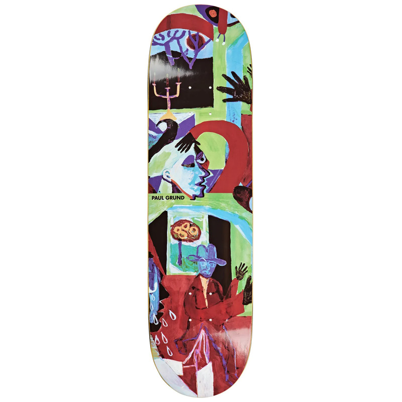 Polar Paul Grund Moth House Skateboard Deck 8.5