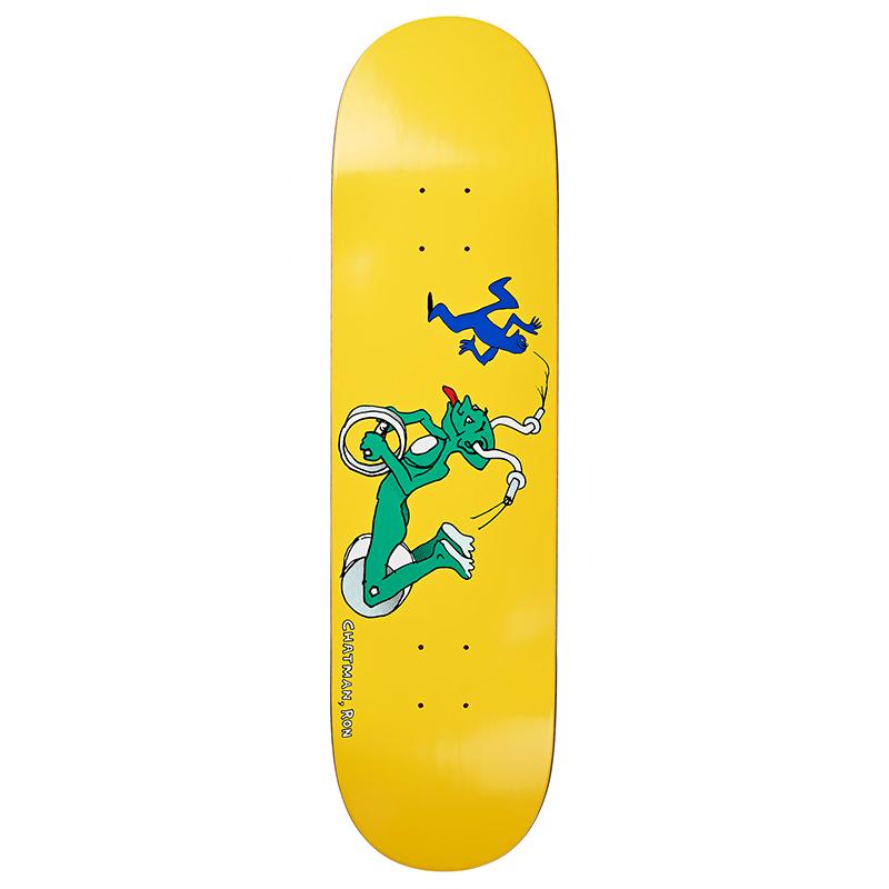 Polar Ron Chatman Guest Model Skateboard Deck Yellow 8.25