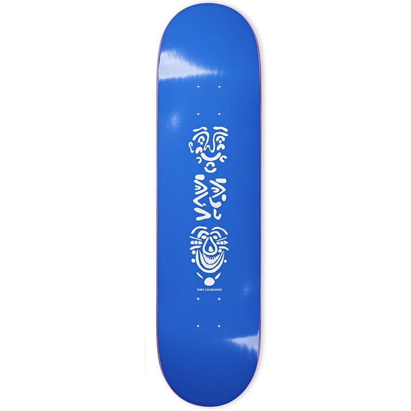 Polar Shin Sanbongi Faces Skateboard Deck Blue 8.125