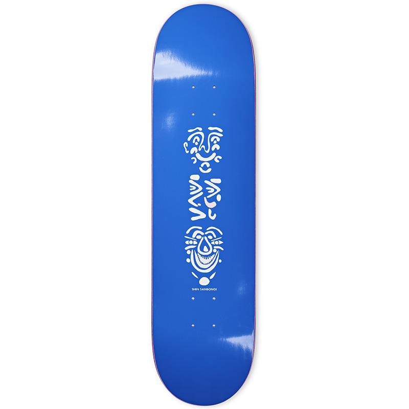 Polar Shin Sanbongi Faces Skateboard Deck Blue 8.5