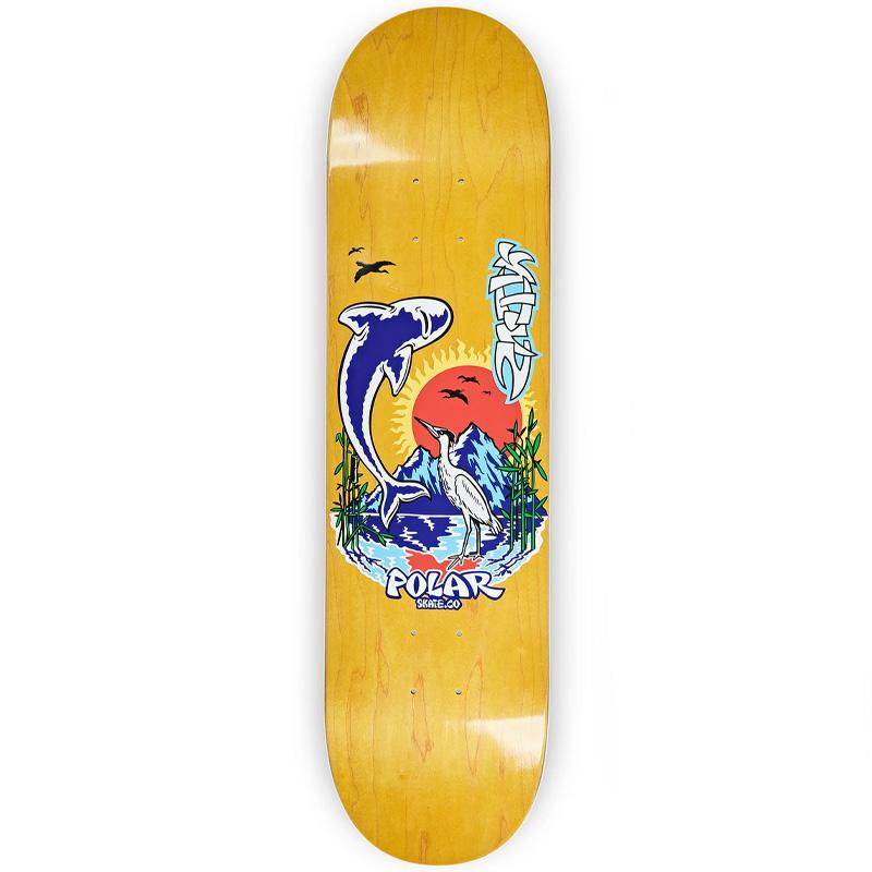 Polar Shin Sanbongi Mt Fuji Skateboard Deck Various Stains 8.25