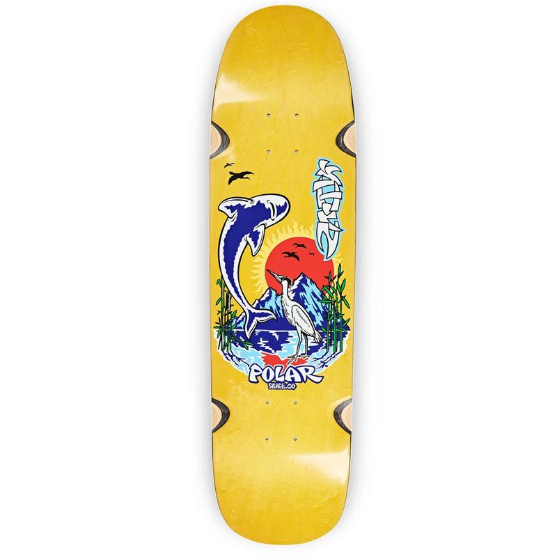 Polar Shin Sanbongi Mt Fuji Wheel Well P9 Shape Skateboard Deck Various Stains 8.625