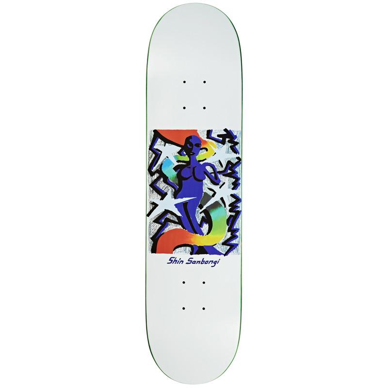 Polar Shin Sanbongi Queen Skateboard Deck White 7.875