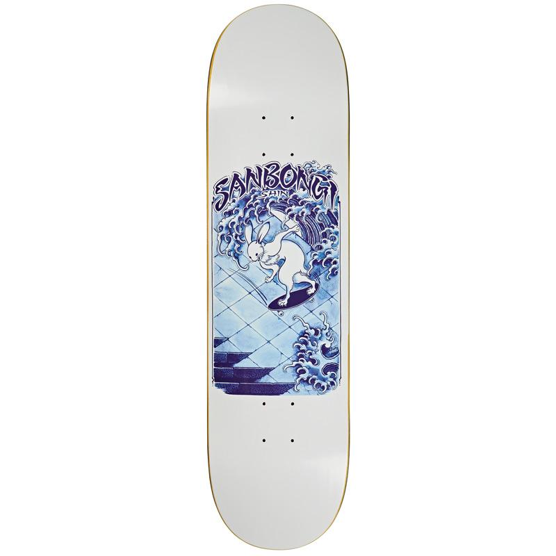 Polar Shin Sanbongi Skate Rabbit Skateboard Deck White 8.25