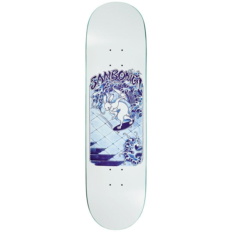 Polar Shin Sanbongi Skate Rabbit Skateboard Deck White 8.5