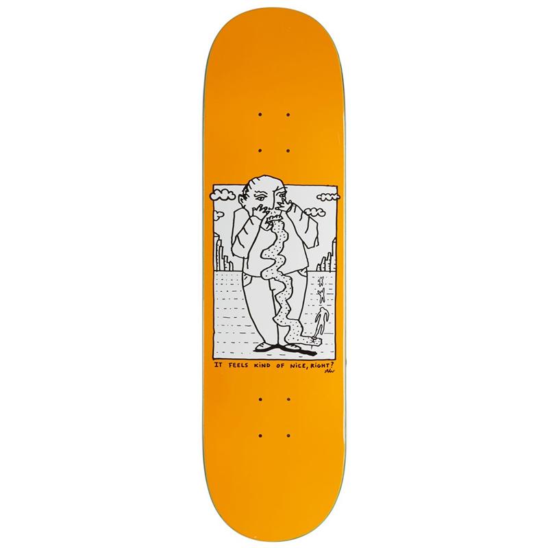Polar Team Kind Of Nice Orange Skateboard Deck 8.38