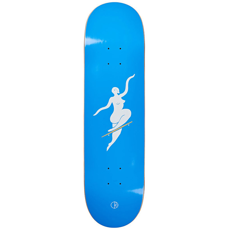 Polar Team No Comply Skateboard Deck Blue 8.5