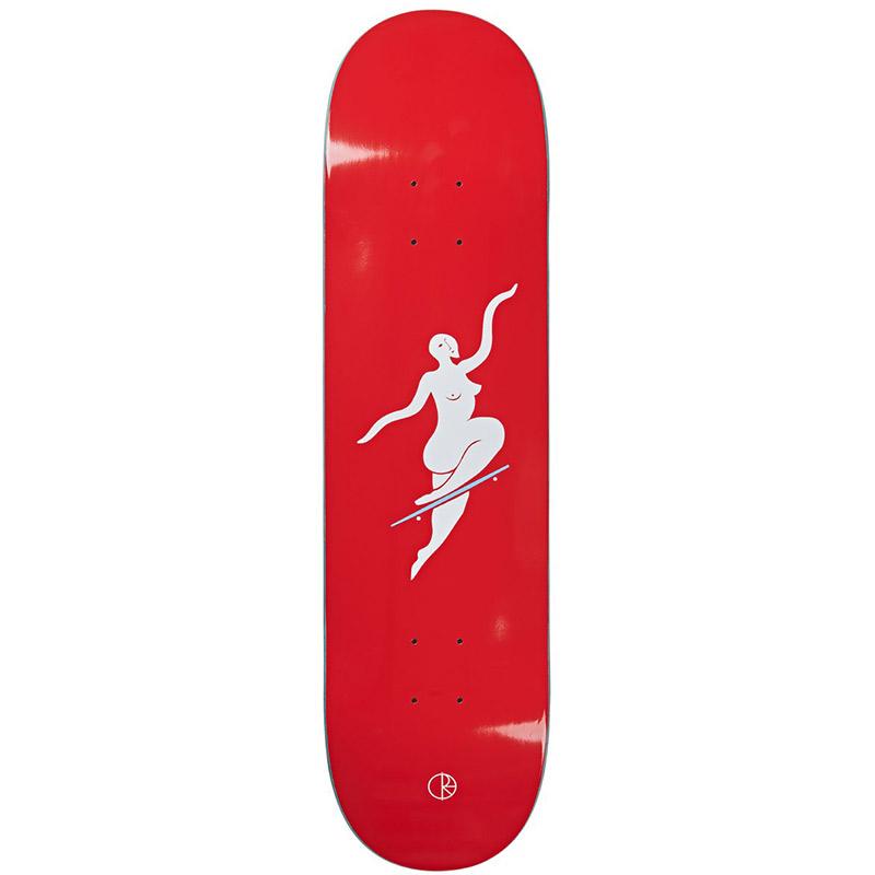 Polar Team No Comply Skateboard Deck Red 8.25