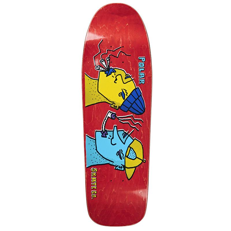 Polar Team Smoking Heads Dane 1 Shape Skateboard Deck 9.75